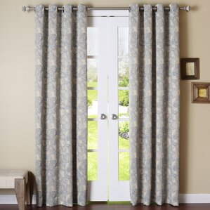 Perfect Stitch Paisley Blackout Thermal Grommet Curtain Panels (Set Of 2)