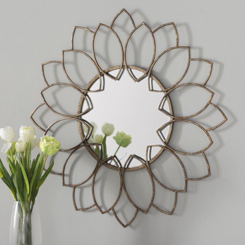 brynn traditional round wall mirror