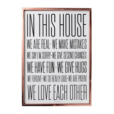 """In this House"" Framed Textual Art"