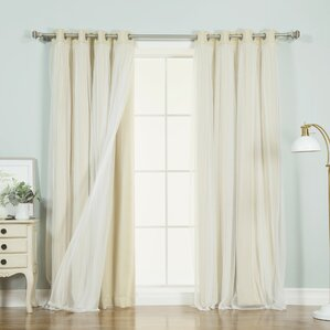 braswell solid thermal grommet curtain panels set of 2