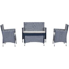 Mckeever 4 Piece Deep Seating Group with Cushions