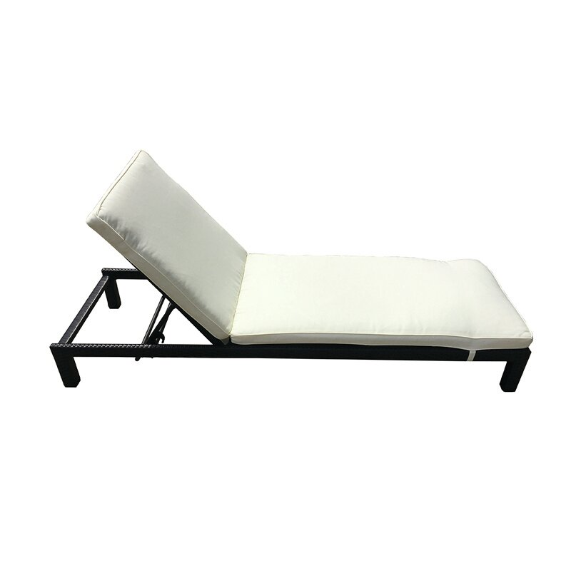 Colby Outdoor Rattan Deckchair Chaise Lounge With Cushion Joss Main