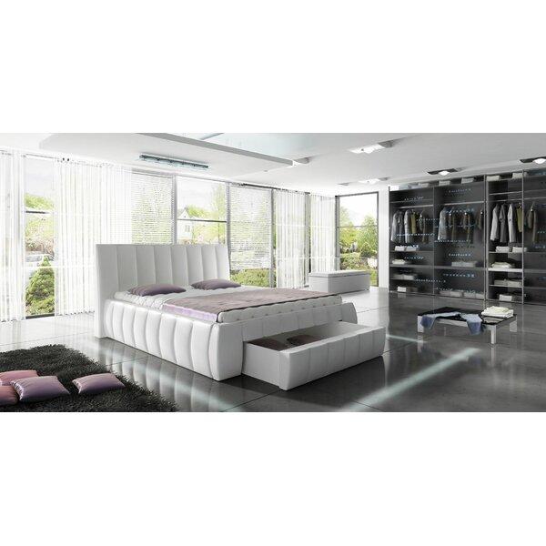Orren Ellis Danvers Modern European Kingsize Upholstered Storage Platform Bed Wayfair