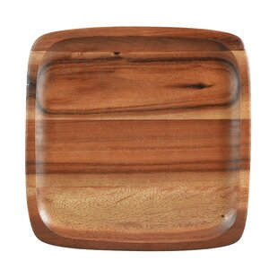 Kona Wood 12\  Square Plate (Set of 4)  sc 1 st  Wayfair & Wood Plates \u0026 Saucers You\u0027ll Love | Wayfair