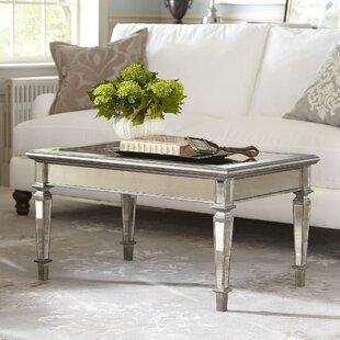 Antiqued Mirrored Coffee Table Wayfair - Wayfair mirrored coffee table
