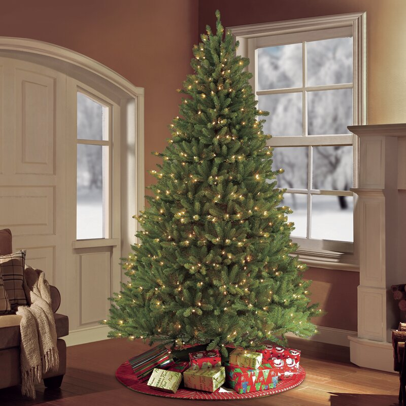 Puleo International 7.5 ft. Pre-Lit frazer Fir Artificial Christmas Tree  with 750 Clear - Puleo Puleo International 7.5 Ft. Pre-Lit Frazer Fir Artificial