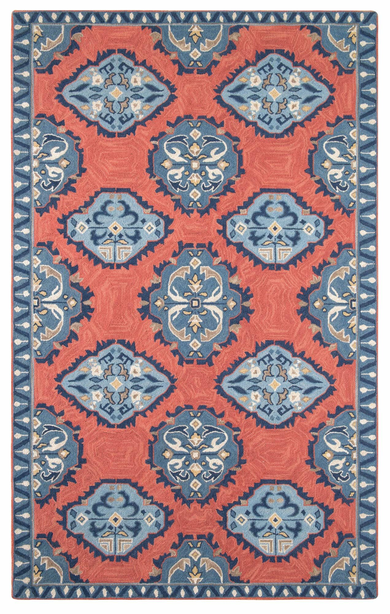 Companyc Old Glory Hand Hooked Wool Newport Red Blue Area Rug