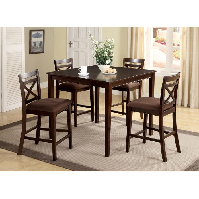 Hokku designs easton 5 piece counter height dining set for Dining room tables easton