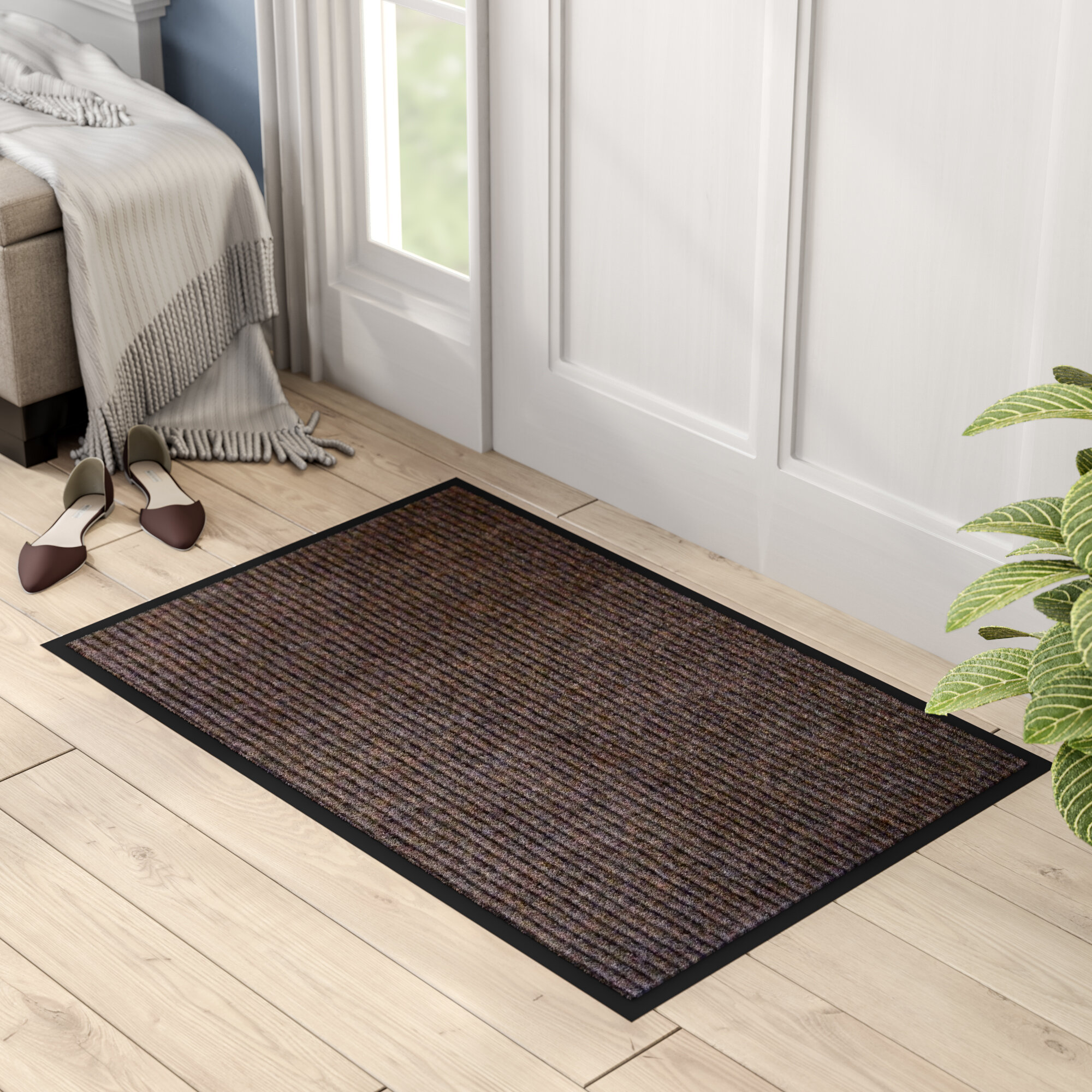 Hastings rectangular indoor ribbed entrance doormat