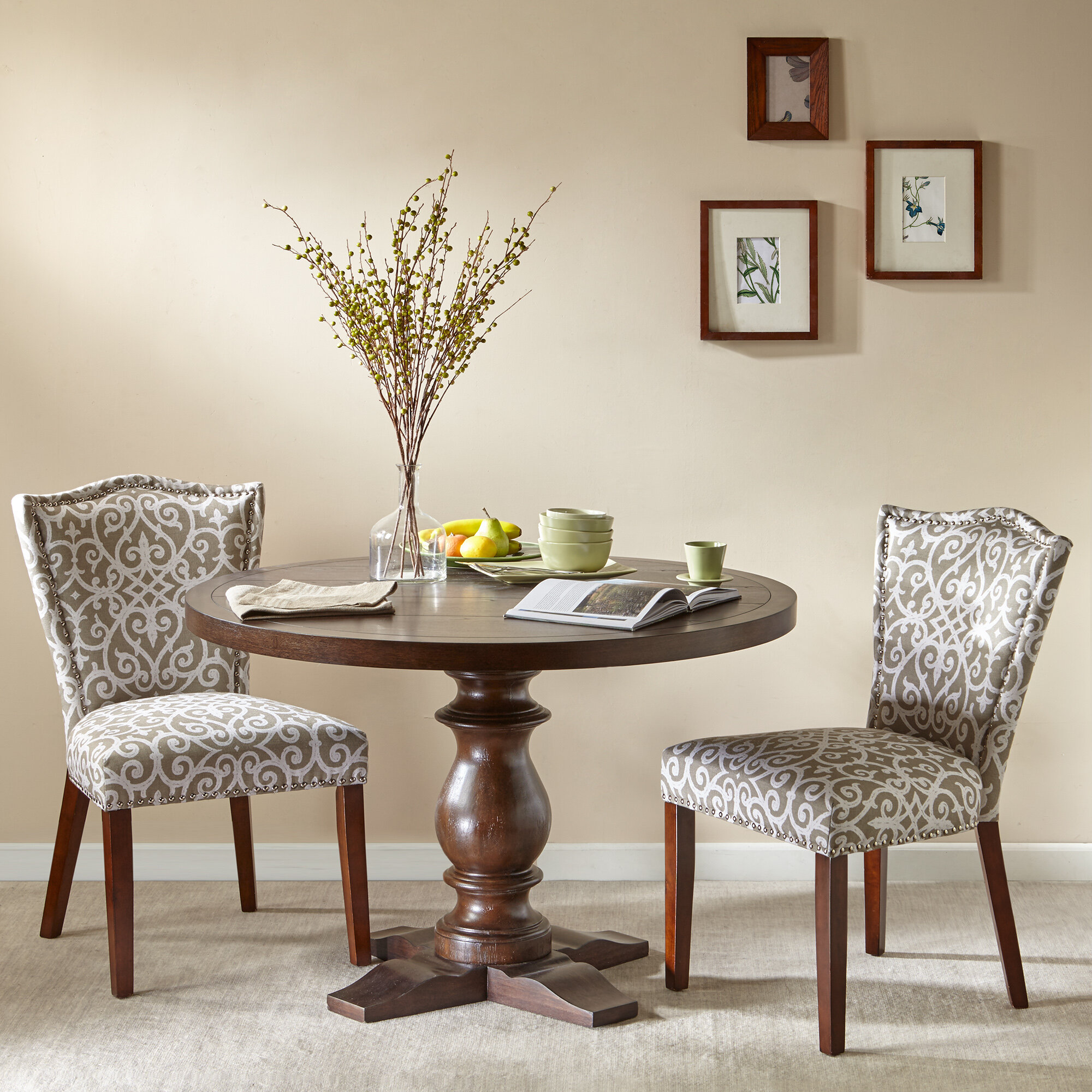 darby home co booth dining table | wayfair Booth Dining Table