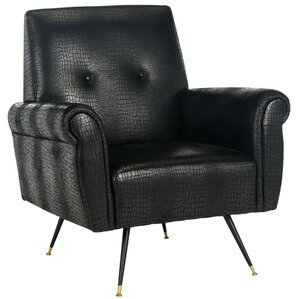 Richardson Retro Mid Century Faux Leather Armchair