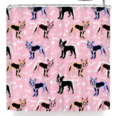 East Urban Home Mukta Lata Barua French Bulldogs Shower Curtain