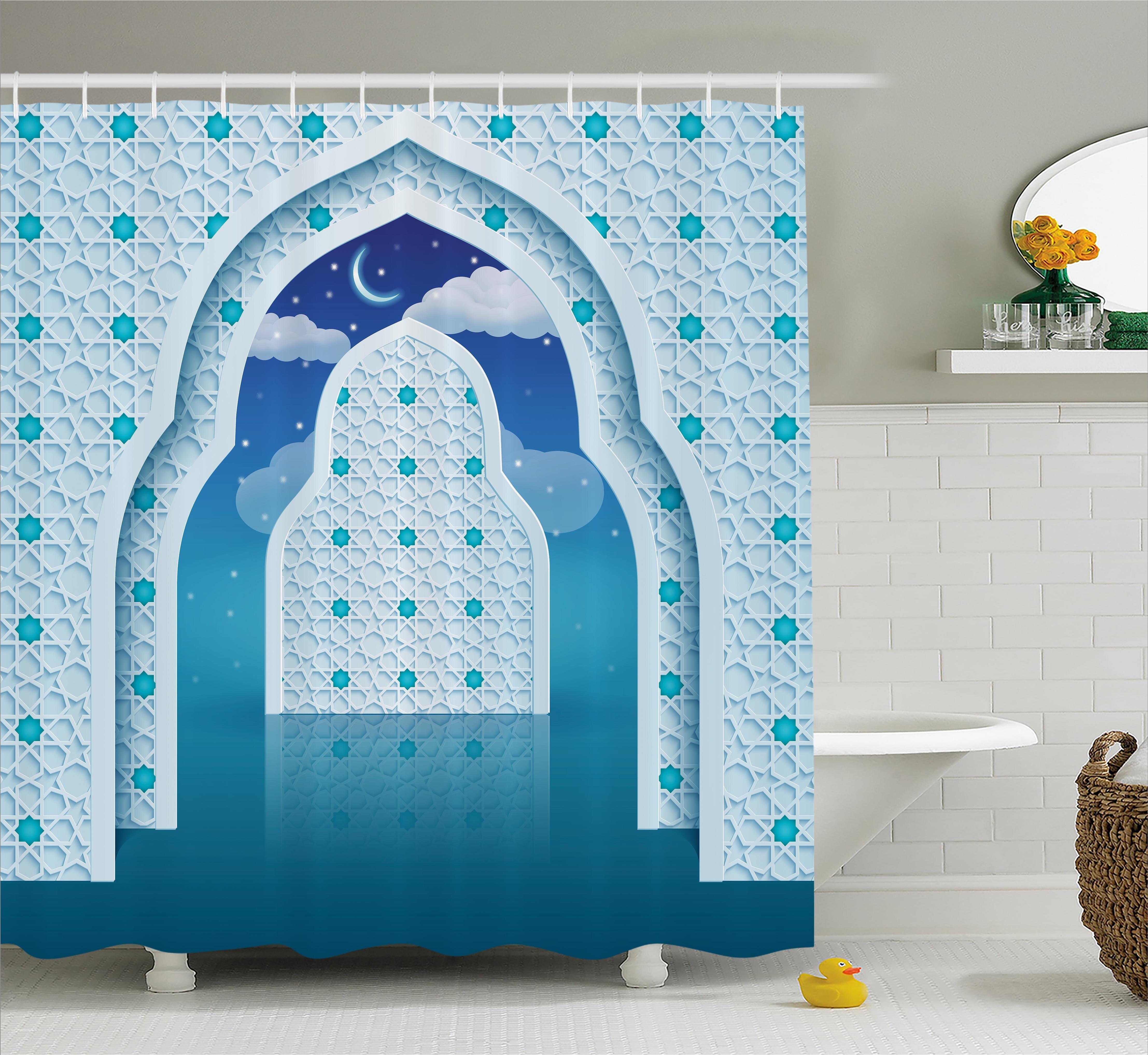 Bloomsbury Market Askham Arabic Signs at Night Shower Curtain | Wayfair