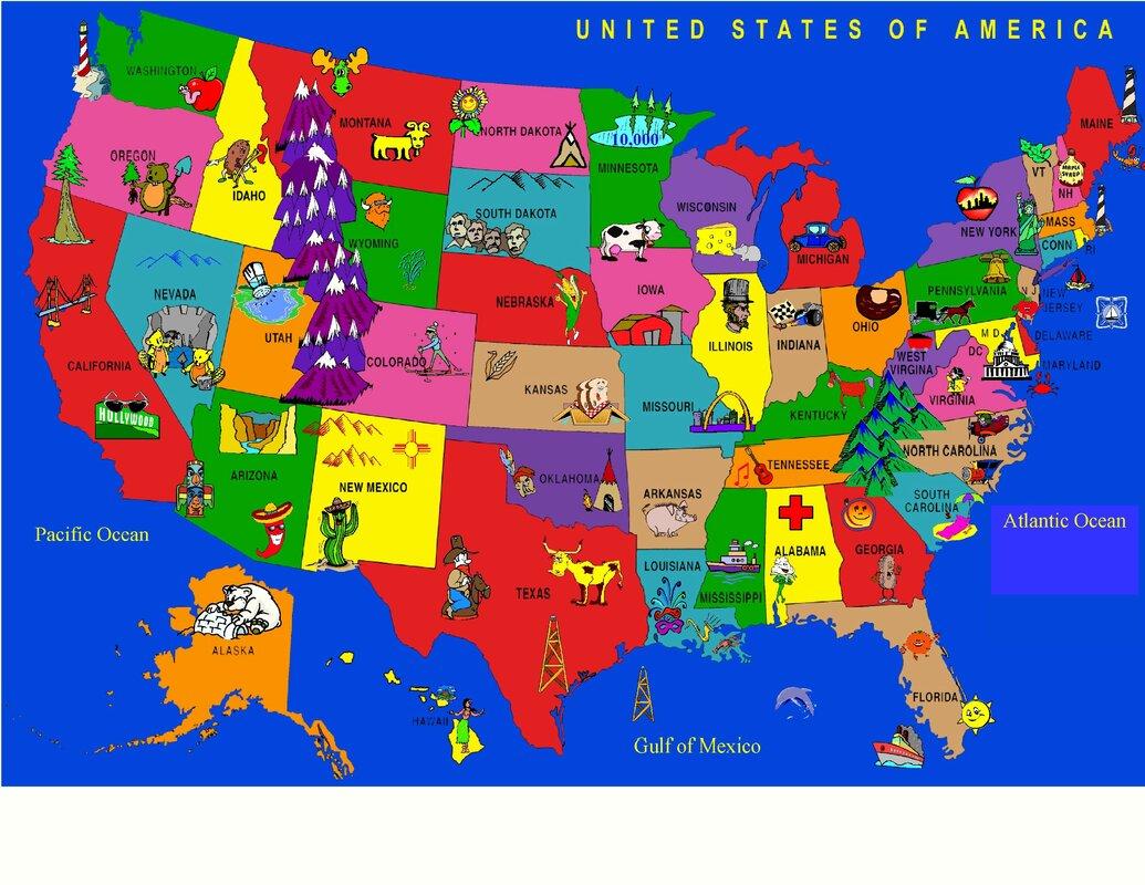 The U.S.: State Abbreviations - Map Quiz Game