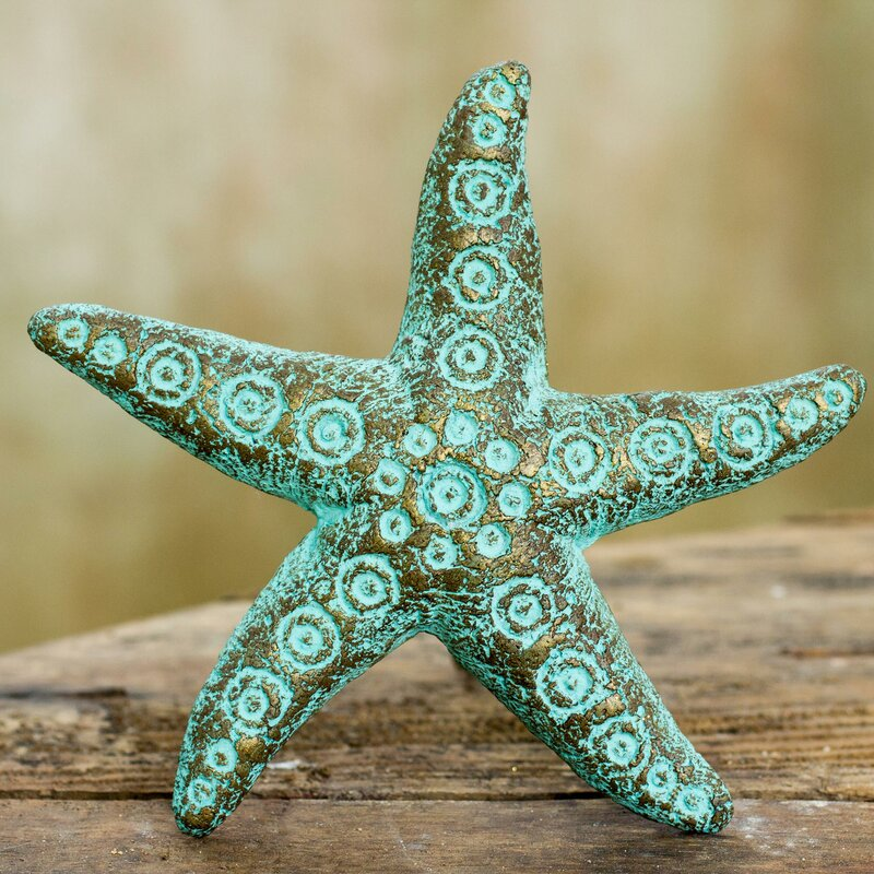 Unique Starfish Recycled Paper Wall Décor