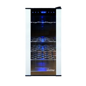 18 Bottle Dual Zone Freestanding Wine Cooler by Vinotemp