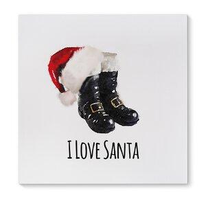 'I Love Santa' Graphic Art Print on Canvas