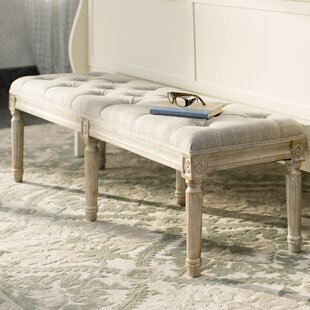 Bench for bedroom Small Letellier Upholstered Bench Wayfaircom Bedroom Benches Youll Love Wayfair