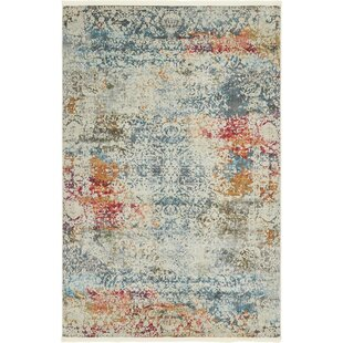 Lonerock Cream Blue Area Rug