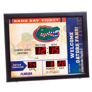 NCAA Bluetooth Scoreboard Wall Clock