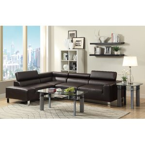 Bokona Miter Sectional by Poundex