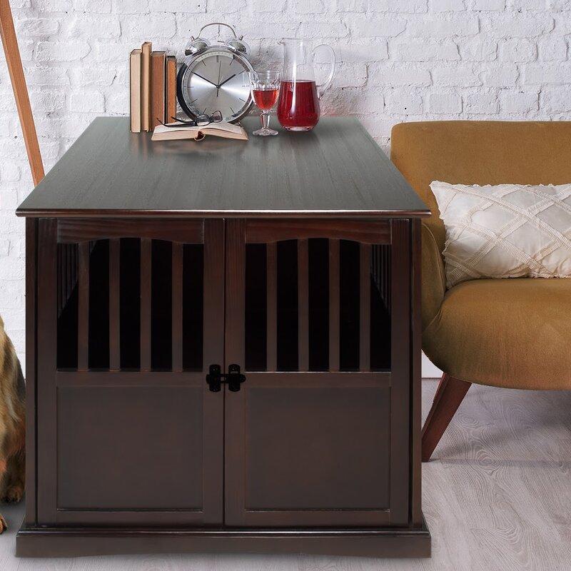red barrel studio cayer pet crate end table & reviews | wayfair