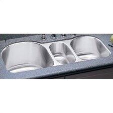 Lustertone 39 5 X 20 Undermount Triple Bowl Kitchen Sink