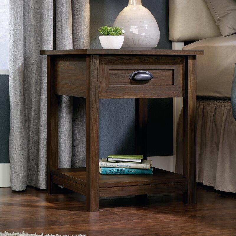 three posts rossford 1 drawer nightstand reviews wayfair. Black Bedroom Furniture Sets. Home Design Ideas