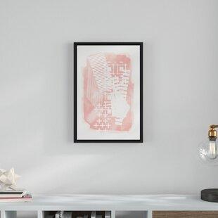 0d3e28360 'Blush Pink Scandinavian' Framed Graphic Art Print on Canvas