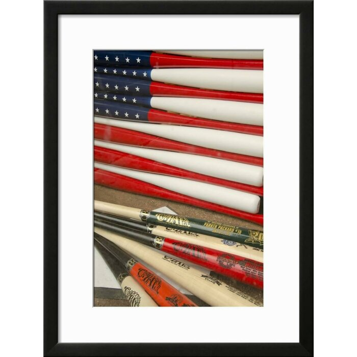 Winston Porter \'Baseball Bats Made Into a US Flag, Cooperstown, New ...
