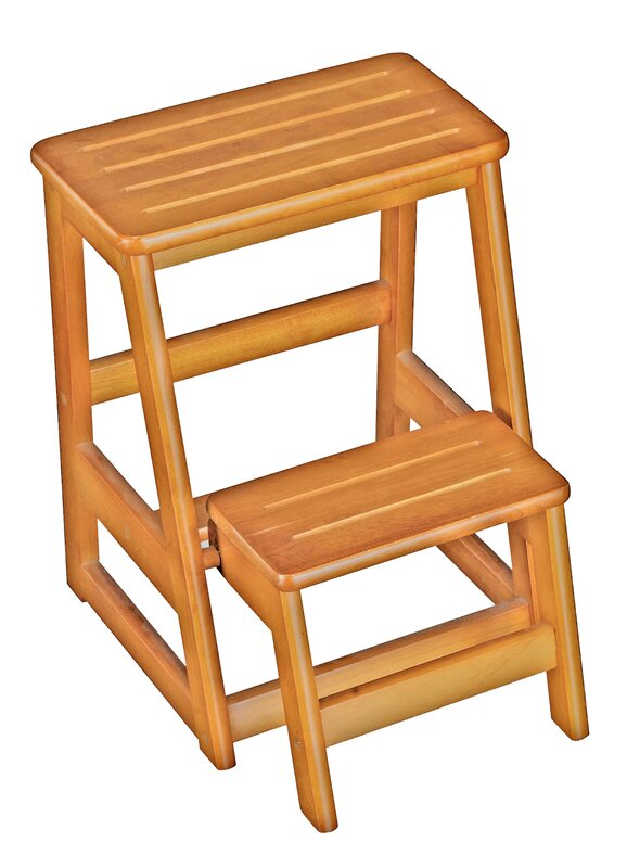 Wooden Folding Step Stool Chair Save Space And Add