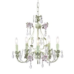 Flower Garden 5-Light Crystal Chandelier