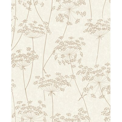 Charlton Home Mount Washington Aura 33' x 20 Floral and Botanical Wallpaper Color: Natural