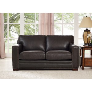 Neil Leather Loveseat by T..