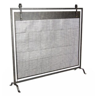 Modern contemporary fireplace screens youll love wayfair contemporary mesh iron fireplace screen teraionfo