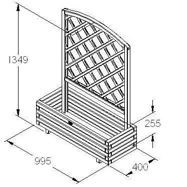Toulouse Wooden Planter Box