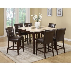 Justin 7 Piece Counter Height Dining Set by A&J Homes Studio
