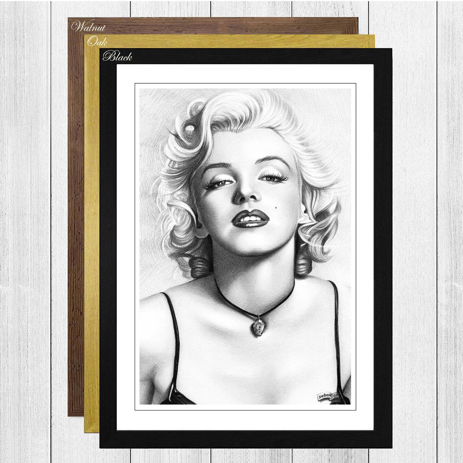 Big Box Art Black and White Marilyn Monroe Framed Photographic Print ...