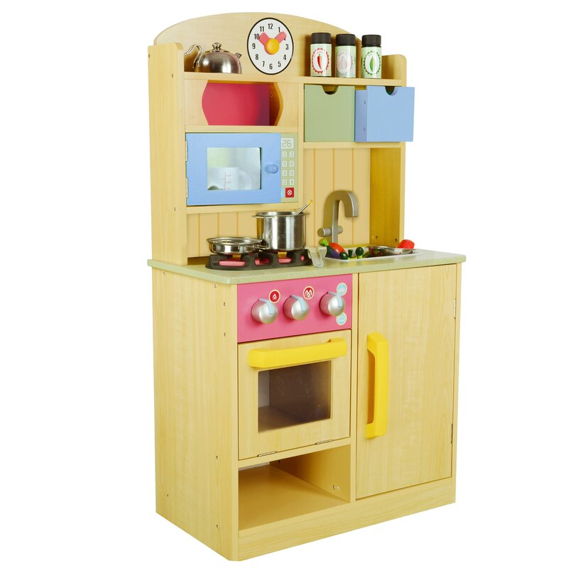 wooden play kitchen accessories teamson 5 chef wooden play kitchen set 1650