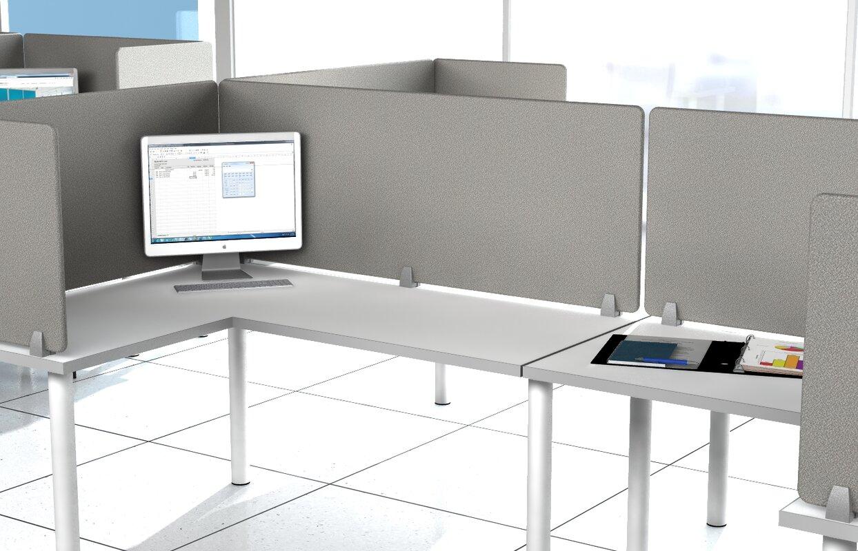 office desk divider. Enclave Panel Fabric Fold Desk Divider Office V