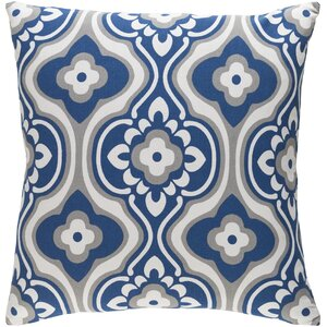 Trudy Blossom Cotton Throw Pillow Cover