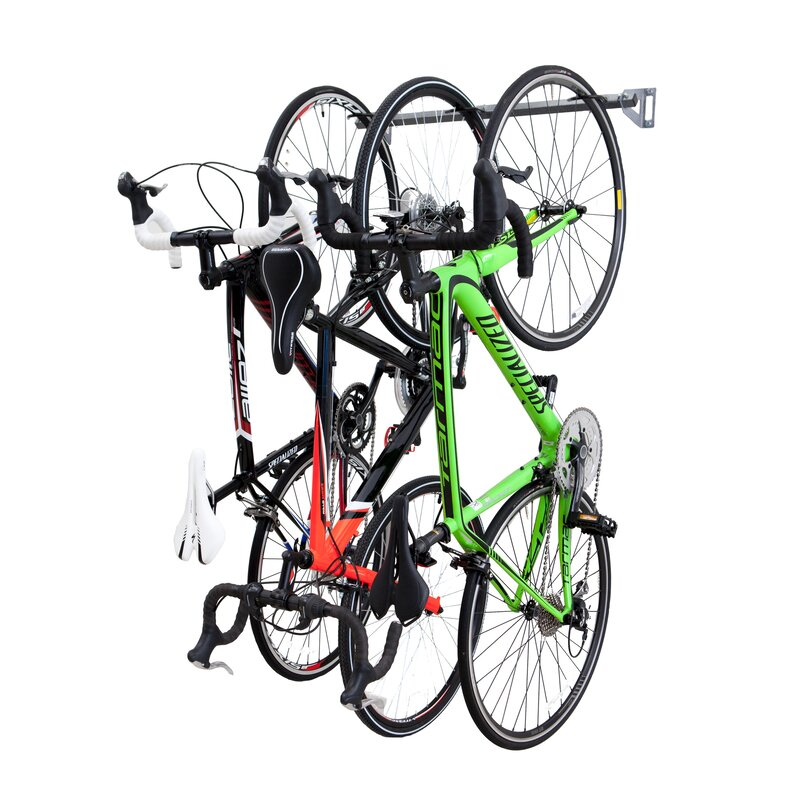 Beau 3 Bike Storage Wall Mounted Bike Rack