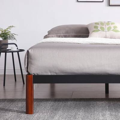 Latitude Run Hulme White Metal Platform Bed Frame & Reviews | Wayfair