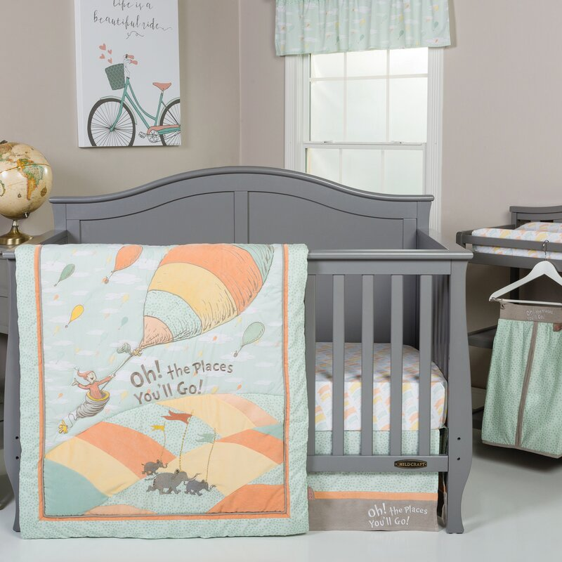 default_name - Trend Lab Dr. Seuss Oh The Places You'll Go! 5 Piece Crib Bedding