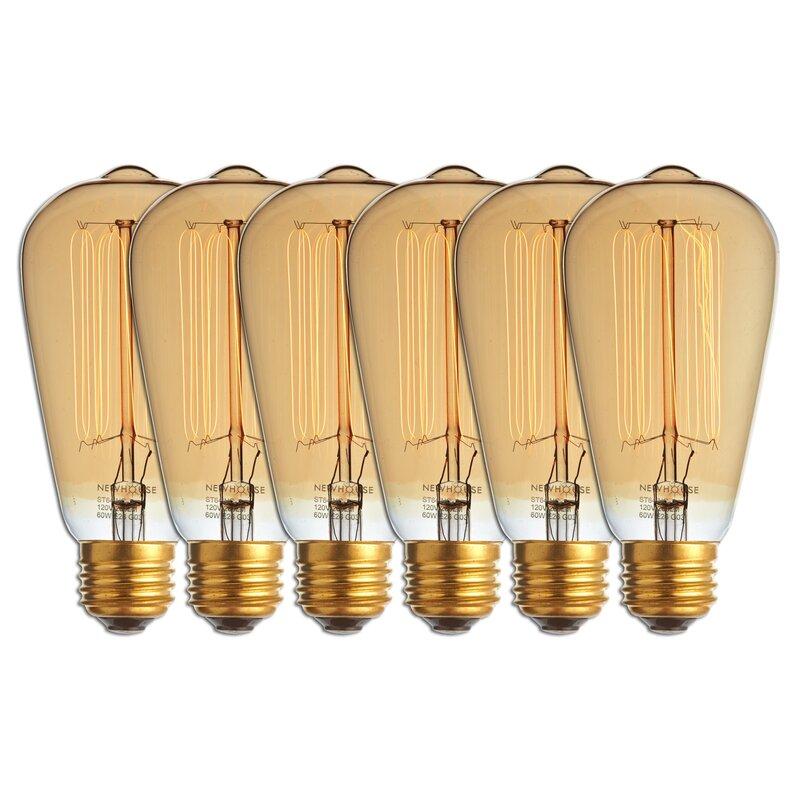 Newhouse Lighting 60 Watt A19 Incandescent Light Bulb