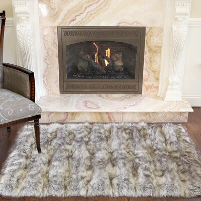 Silhouette Home Rugs Faux Fur Wayfair