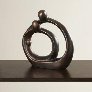 family circle bronze sculpture wayfair