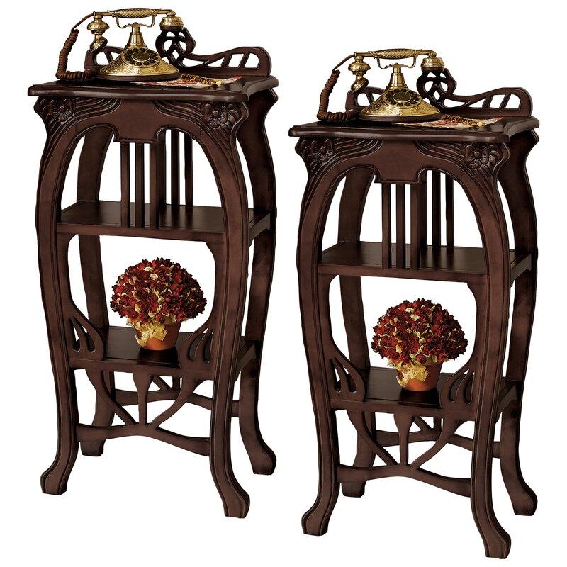 Design Toscano Art Nouveau Harp End Table Wayfair