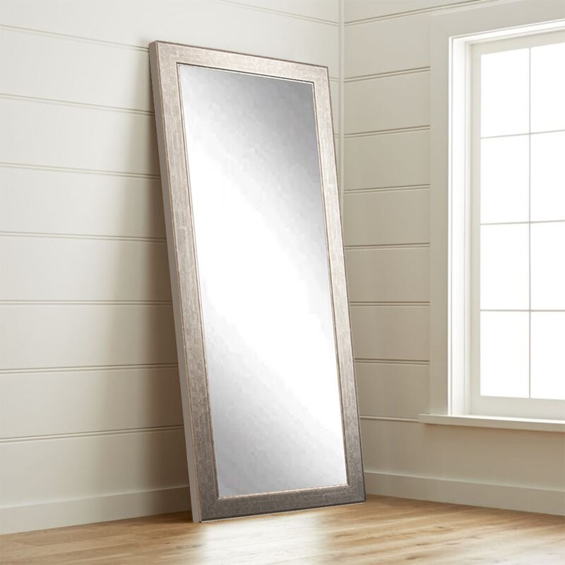 Tall Wall Mirrors brandtworksllc subway silver elite tall accent wall mirror