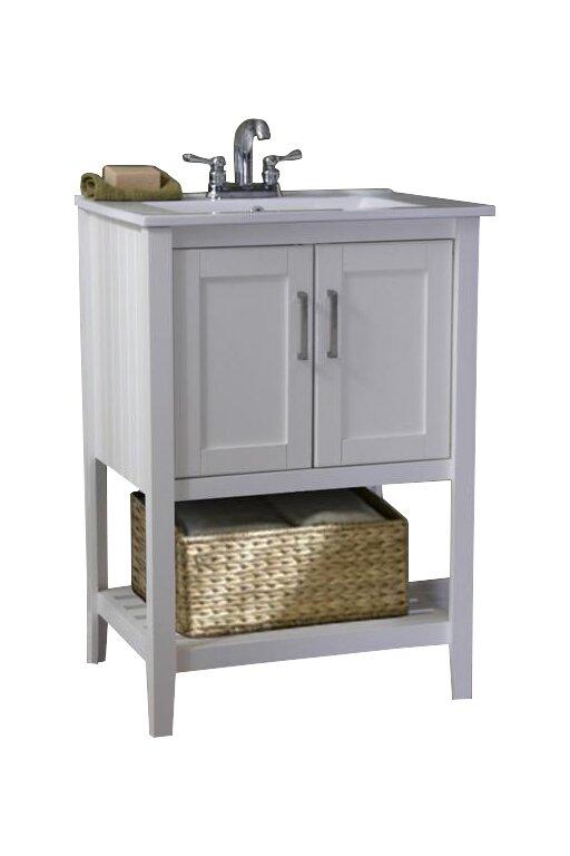 Olivia 24 Single Bathroom Vanity Set With Basket Reviews Joss Main